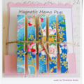 Cherry Blossoms - Magnet Pegs - Magnetic Memo Pegs - Set of 5