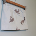 Toddler Skirt. Baby Skirt. Blue Skirt With Hares. Size 6 Months.
