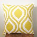 Retro Yellow & White Large Teardrop Cushion Cover  - Retro Cushions