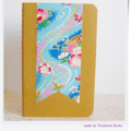 Cherry Blossoms Japanese Paper - Hand Decorated Moleskine Cahier Notebook
