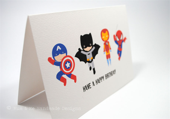 happy birthday card  boy   action superheroes  hbc  mum, Birthday card