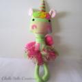 Fabric Unicorn Soft Doll Toy