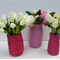 Hand Knitted Jar Cover/Cozy, Vase in Hot Pink