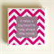 1 Ceramic Tile Drink Coaster Pink & Grey Teacher Quote