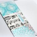 A5 Notebook journal - blue teal music notes aqua - teacher gift