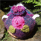Purple & green varigated