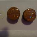 Circle Me Studs in Glitter!