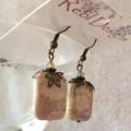 Cream Fossil stone earrings