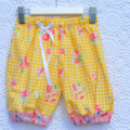 Harem Pants Summer Shorts in Gingham Sunshine size 1 ready to post