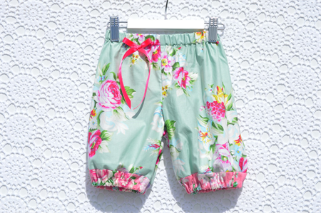 Harem Pants Summer Shorts in Circa Lindsay