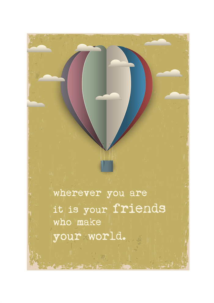 Vintage Style Friendship Prints - A4 Wall Art | Jack of all Designs ...