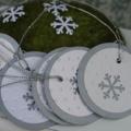 6 Silver Snowflake Gift Tags ~ Christmas Gift Tags ~ Princess Party Gift Tags