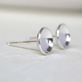 Concave Sterling Silver Studs 7mm
