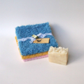 Recycled Cotton Cloths Gift Pack, Vintage Chenille & Table Linens, Free Soap