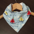 SAILORS BLUE Super-Absorbent 3-Layered bandana bib with Waterproof backing