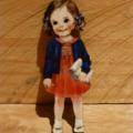 Laser Cut Wood Vintage Girl Brooch