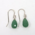Aventurine facetted drop sterling silver earrings