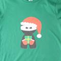 Christmas Santa Ninja Printed T-Shirt - Green - size 9