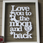 Personalised Love You To the Moon & Back Papercut Art