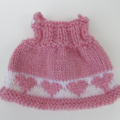 Lucy the Knitted Bunny Rabbit Toy with lovely Pink Sweetheart Party