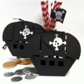 Pirate Boat gift boxes. Birthday party, gifts, favour. Pirate ship, loot bag.