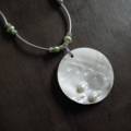 Sea Lover SALE Fresh water green pearls white Mother of Pearls in 'Situ'