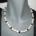 Heartfelt Romance.SALE ON freshwater pearls black necklace Derby Day