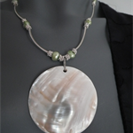 Sea Lover SALE Fresh water green pearls white Mother of Pearls in 'Situ'
