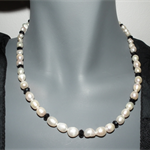 Heartfelt Romance.SALE ON freshwater pearls black necklace Derby Day