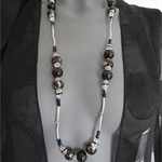 Crystal Dreamer SALE European ceramic beaded black crystal necklace