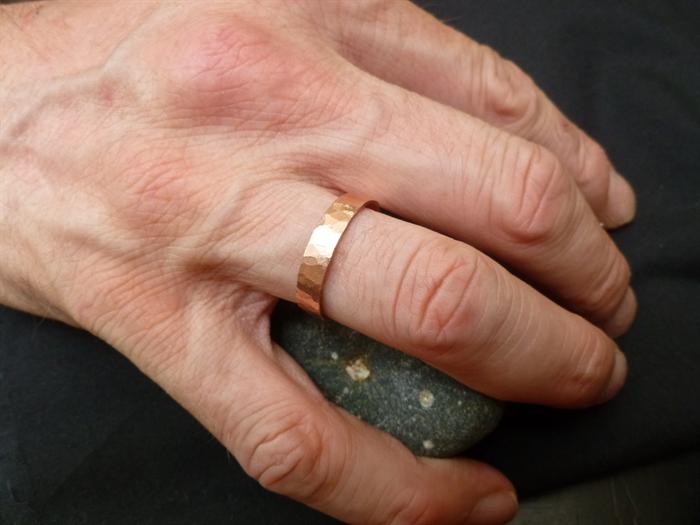 Hammered Copper Mens Ring Size 105 Us Or U12 Australian Plata
