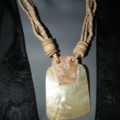 Tahitian Memories.SALE Beautiful Mother of Pearl creamy multi colour wooden