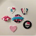 Monster High Edible Cupcake Toppers