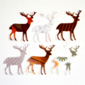 A herd Of Paper Reindeer Eco-friendly Embellishments Holiday Gift Wrap Confetti