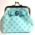 'DOTTY' purse // Aqua