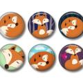 Magnets - Mr Fox - set of 6 fridge magnets
