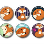 Magnets - Mr Fox - set of 6 fridge magnets