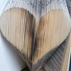 Folded Book Art 'Heart'