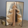 Folded Book Art 'Christmas Tree'