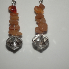 Channeling Auras SALE orange Carnelian crystal Swarovski crystal earrings