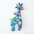 Giraffe Tag Toy Blue with Spots
