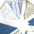 Coastal Beach House Flag Bunting. Boys Blue Banner Pennant Decoration
