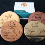 ANIMALS Tasmanian Timber Coasters