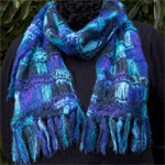 """Free Express Post upgrade Mohair """"colours of the sea"""" scarf"""