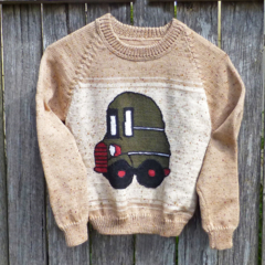 "Woollen ""Bus"" jumper for 3 - 5 year old"