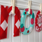 Fabric letters - up to 5 letters custom name/word banner with pegs,string in bag