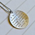 Sister Gift Hand Stamped Necklace Quote Jewelry Sterling Silver
