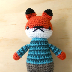 fox, amigurumi, crochet, toy, plushie .. finley fox