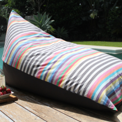 Bean Bag - Stripe Fabric with contrast