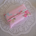 Pink Floral Tissue Pocket Pouch